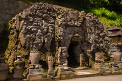The temple of Goa Gajah near Ubud on the island of Bali Royalty Free Stock Photo