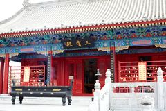 Temple for The god of wealth Stock Images
