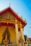 The temple with gold.. Khon Kaen.Thailand. Royalty Free Stock Images