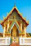 The temple with gold.Khon Kaen.Thailand. Royalty Free Stock Photos