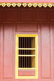 Temple  gold windows Royalty Free Stock Photography