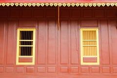 Temple  gold windows Royalty Free Stock Photos