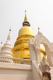 Temple. The golden pagoda at Wat Suan Dok temple in Chiang Mai, Thailand Stock Photography