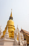 Temple. The golden pagoda at Wat Suan Dok temple in Chiang Mai, Thailand Royalty Free Stock Photography