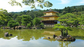 Temple of The Golden Pavilion. The exterior of the Temple of the Golden Pavilion, a well known Zen Buddhist temple and famed travel destination in Kyoto, Japan Royalty Free Stock Images