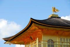 Temple of the Golden Pavilion. Kinkakuji (Temple of the Golden Pavilion) with pond and trees in Kyoto, Japan Stock Photo