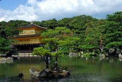 Temple of the Golden Pavilion. Kinkakuji (Temple of the Golden Pavilion) with pond and trees in Kyoto, Japan Royalty Free Stock Photo