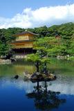 Temple of the Golden Pavilion. Kinkakuji (Temple of the Golden Pavilion) with pond and trees in Kyoto, Japan Royalty Free Stock Photos