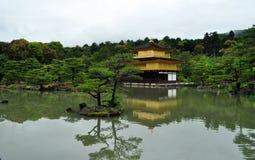 Temple of the Golden Pavilion - Kyoto. Kinkaku-ji, Temple of the Golden Pavilion, officially named Rokuon-ji, is a Zen Buddhist temple in Kyoto, Japan. It is stock photo