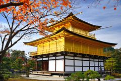 Temple of the Golden Pavilion. On Kyoto, Japan Stock Images