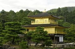 Temple of the Golden Pavilion. View of Kinkaku-ji Temple of the Golden Pavilion is a Zen Buddhist temple in Kyoto, Japan. One of the most popular buildings in Royalty Free Stock Photo