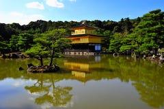 Temple of the Golden Pavillion. Kinkaku-ji (Temple of the Golden Pavilion), also known as Rokuon-ji (Deer Garden Temple), is a Zen Buddhist temple in Kyoto Stock Photos