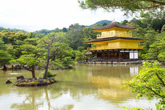 Temple of the Golden Pavillion. The Temple of the Golden Pavillion in Japan. The famous Monk Yisiu lived here Royalty Free Stock Photo