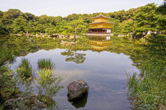 Temple of the Golden Pavillion (kinkaku-ji), Kyoto, Japan. Royalty Free Stock Images