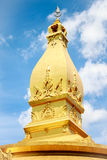 Temple. Golden temple in Thailand with nice sky in background Royalty Free Stock Image