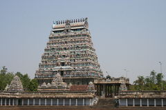 Temple Gopuram. Gopuram of a Traditional south Indian Temple Chidambram Royalty Free Stock Photography