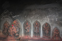 Temple graffiti. The monkey temple, with statues and graffiti Stock Photos