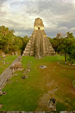 Temple Gran Jaguar at Tikal Stock Photo