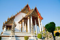 Temple grand chez Wat Suthat, Bangkok Thaïlande Photos stock