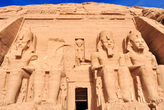 Temple grand d'Abu Simbel en Egypte Image stock