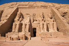 Temple grand de simbel d'Abu Images libres de droits
