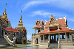 Temple and grand palace. The beautiful temple and grand palace of Thailand Royalty Free Stock Images