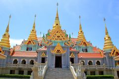 Temple and grand palace. The beautiful temple and grand palace of Thailand Stock Images