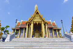 Temple in Grand Palace Emerald Buddha (Wat Phra Kaew), Bangkok Stock Photos