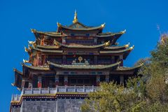 Temple of the Great Buddha ,Dukezong Old Town. The view of the temple of the Great Buddha in the 1300-year old Dukezong Old Town in Shangri-La,YUNNAN,CHINA Stock Images