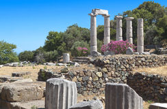 Temple of the Great Gods at Samothraki Stock Photography