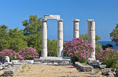 Temple of the Great Gods at Samothraki, Greece Stock Photos