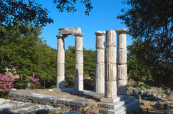 Temple of the Great Gods at Samothraki island Stock Photography