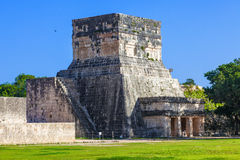 Temple in the Great Plaza of Chichen Itza, Mexico Royalty Free Stock Photography