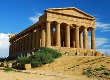 Temple grec à Agrigente/en Sicile Photographie stock libre de droits