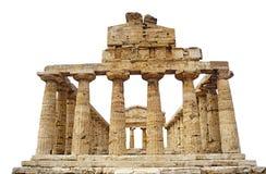 Temple grec d'Athéna dans Paestum, Italie Photographie stock