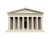 Temple grec d'isolement illustration libre de droits