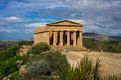 Temple grec de Concorde - la Sicile Photo libre de droits