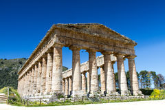 Temple grec de Segesta Photos stock