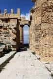 Temple grec doric antique dans Selinunte Photographie stock libre de droits