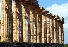 Temple grec doric antique dans Selinunte Photos libres de droits