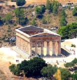 Temple grec dorique classique chez Segesta, Sicile photo stock