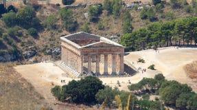 Temple grec dorique classique chez Segesta, Sicile images libres de droits