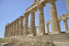 Temple grec en Sicile. l'Italie. image stock