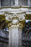 Temple, Greek-style columns, Corinthian capitals in a park Stock Images