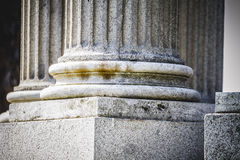 Temple, Greek-style columns, Corinthian capitals in a park Stock Photography