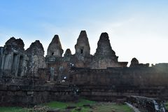 Temple grounds of Cambodia Royalty Free Stock Images