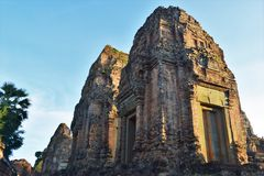 Temple grounds of Cambodia Royalty Free Stock Photography
