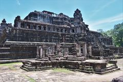 Temple grounds of Cambodia Royalty Free Stock Photos