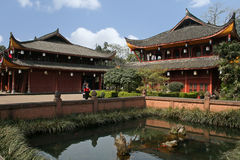The temple grounds at Mount Emei Royalty Free Stock Photo