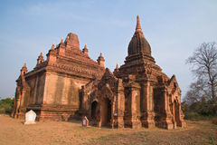 Temple Group, Bagan Plain near Old Bagan, Myanmar Stock Photography